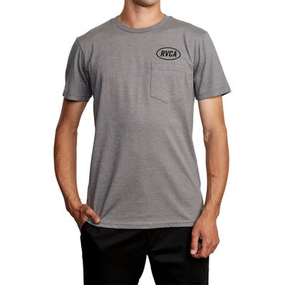 Rvca Labour Logo Pocket T-Shirt, Grey
