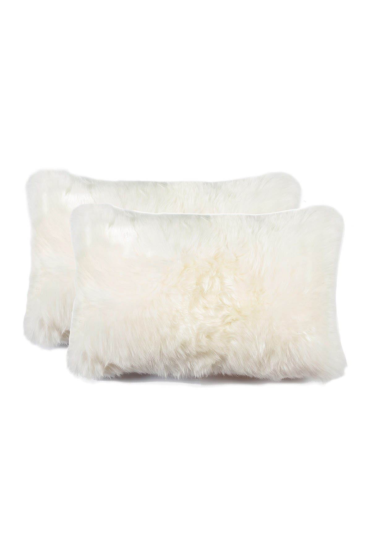 Image of Natural New Zealand 12x20 Genuine Sheepskin Pillow - Set of 2 - Natural