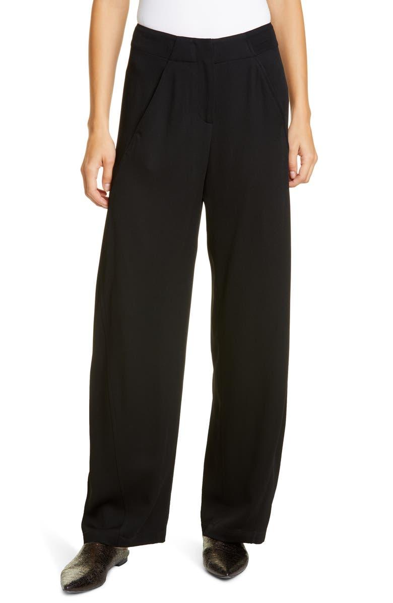ZERO + MARIA CORNEJO Circle Eco Drape Pants, Main, color, BLACK