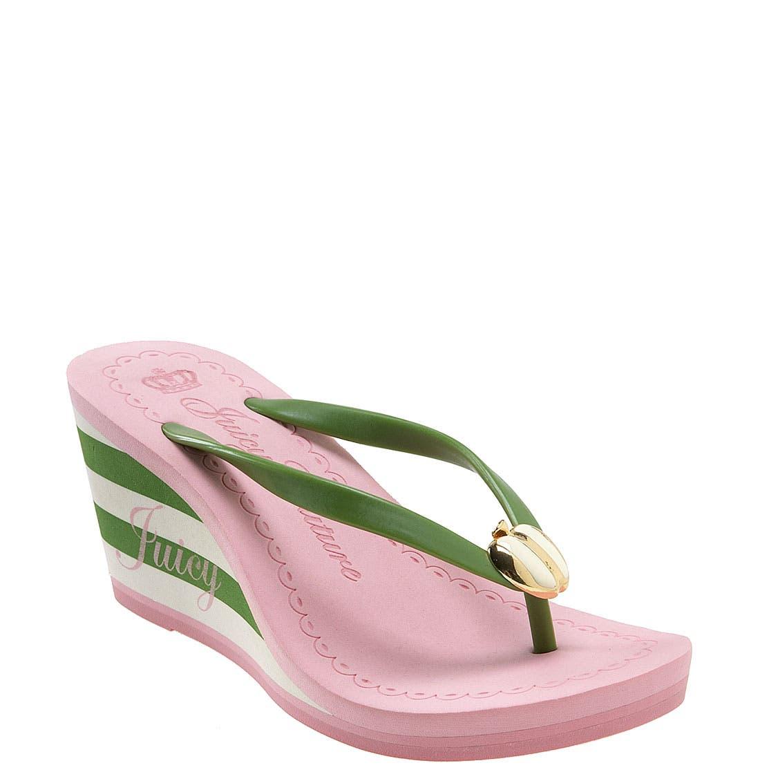 Juicy Couture 'Laney' Wedge Flip Flop