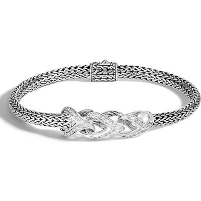 John Hardy Asli Classic Chain Pave Diamond Bracelet