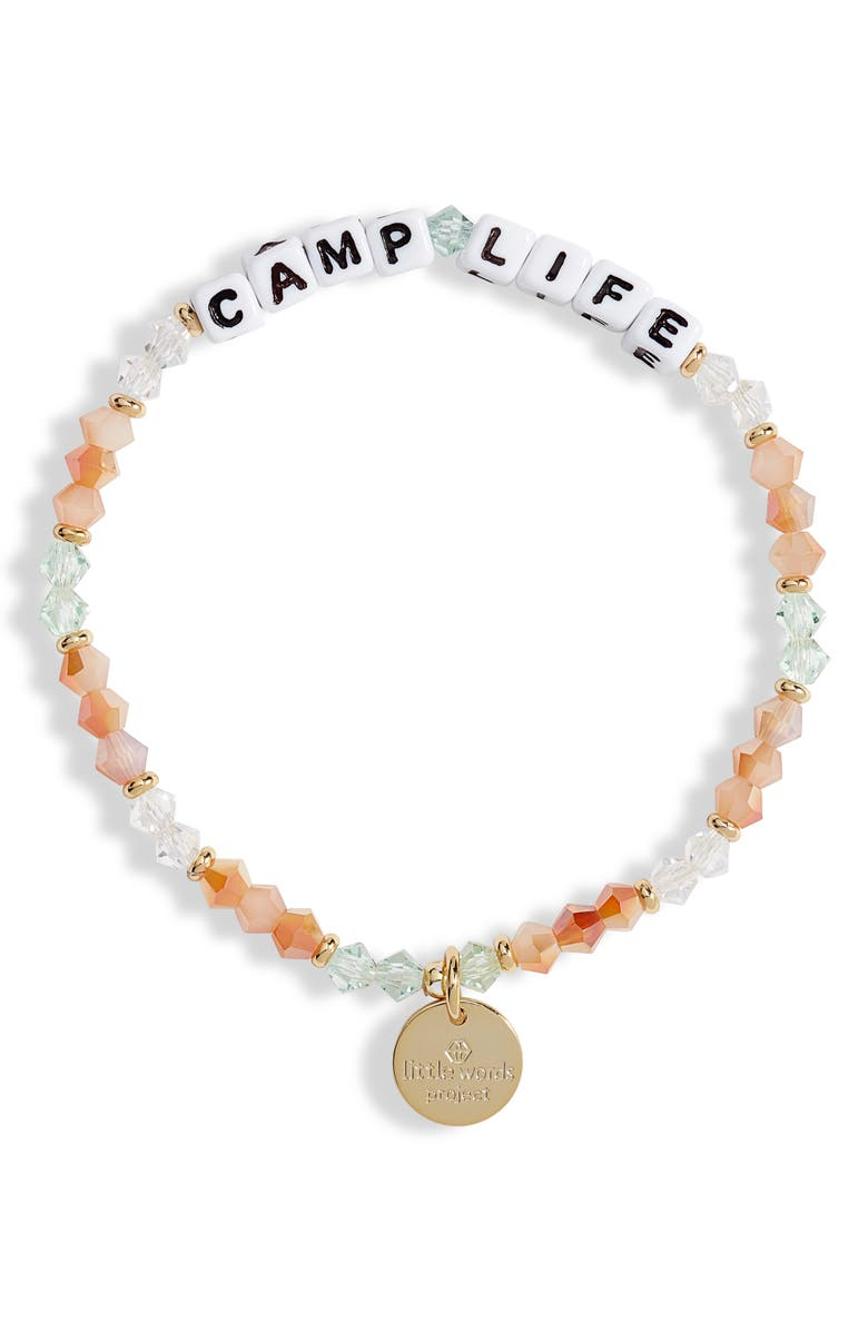 LITTLE WORDS PROJECT Camp Life Beaded Stretch Bracelet, Main, color, 250