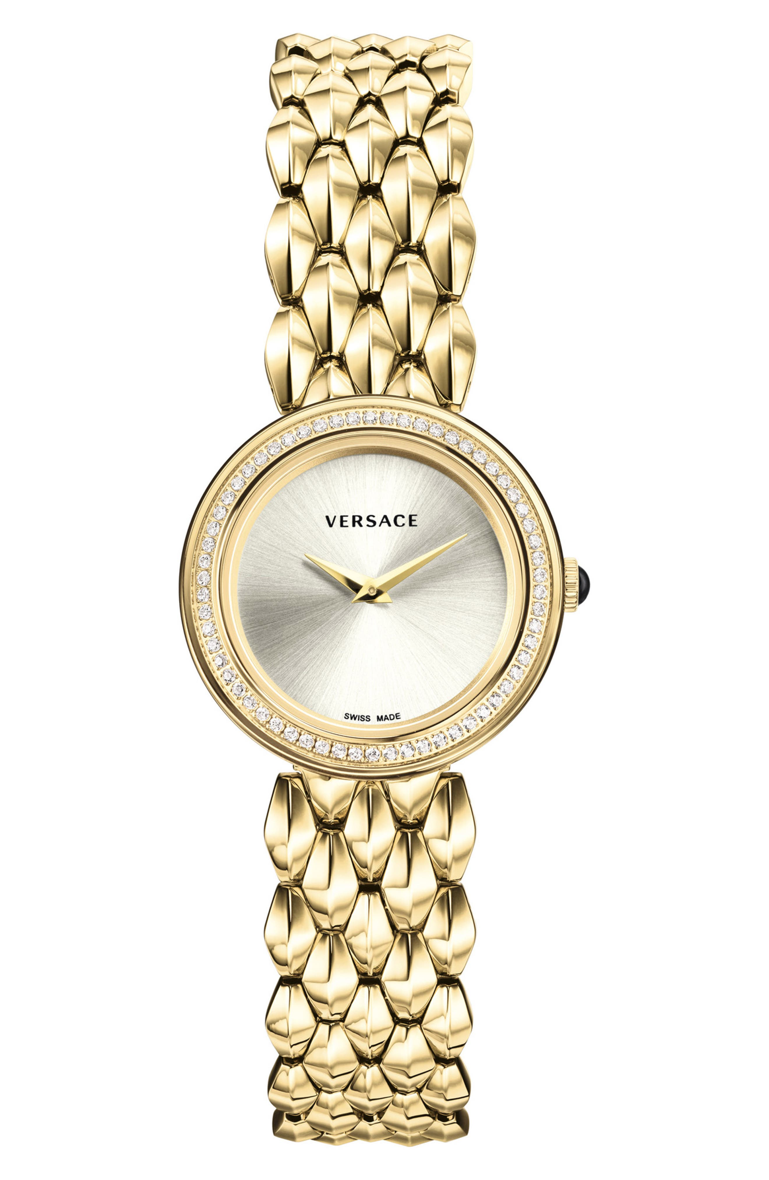 ,                             V-Flare Diamond Dial Bracelet Watch, 28mm,                             Main thumbnail 1, color,                             710