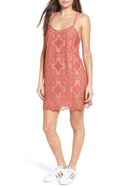 Image of Love, Fire Strappy Lace Shift Dress