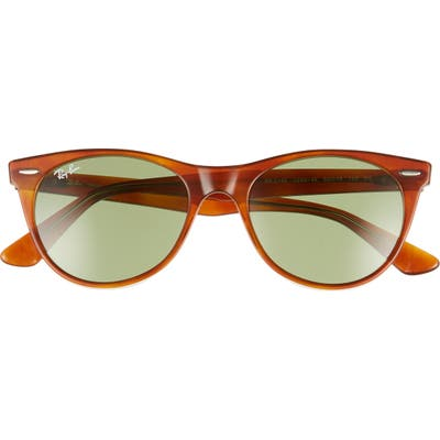 Ray-Ban Phantos 52mm Rounded Sunglasses - Havana Gold/ Green Solid