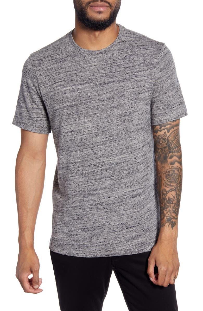 CALIBRATE Slim Fit Slub T-Shirt, Main, color, GREY HEATHER