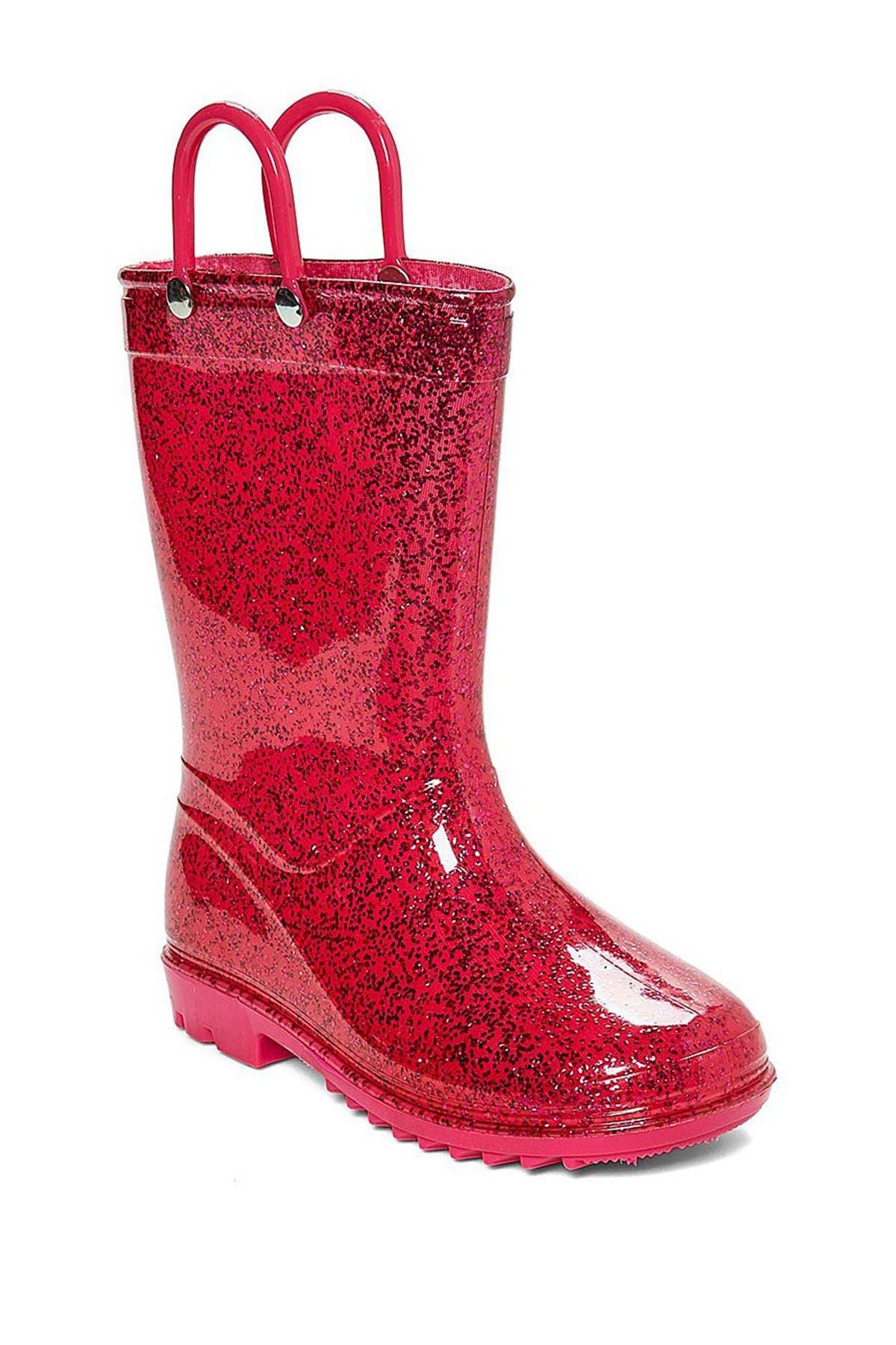 LILLY OF NEW YORK Glitter PVC Rain Boot