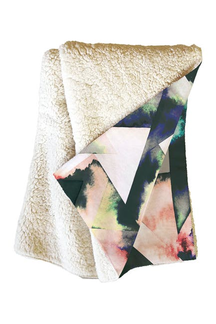 Image of Deny Designs Ninola Design Watercolor Marble Tiles Fleece Throw Blanket
