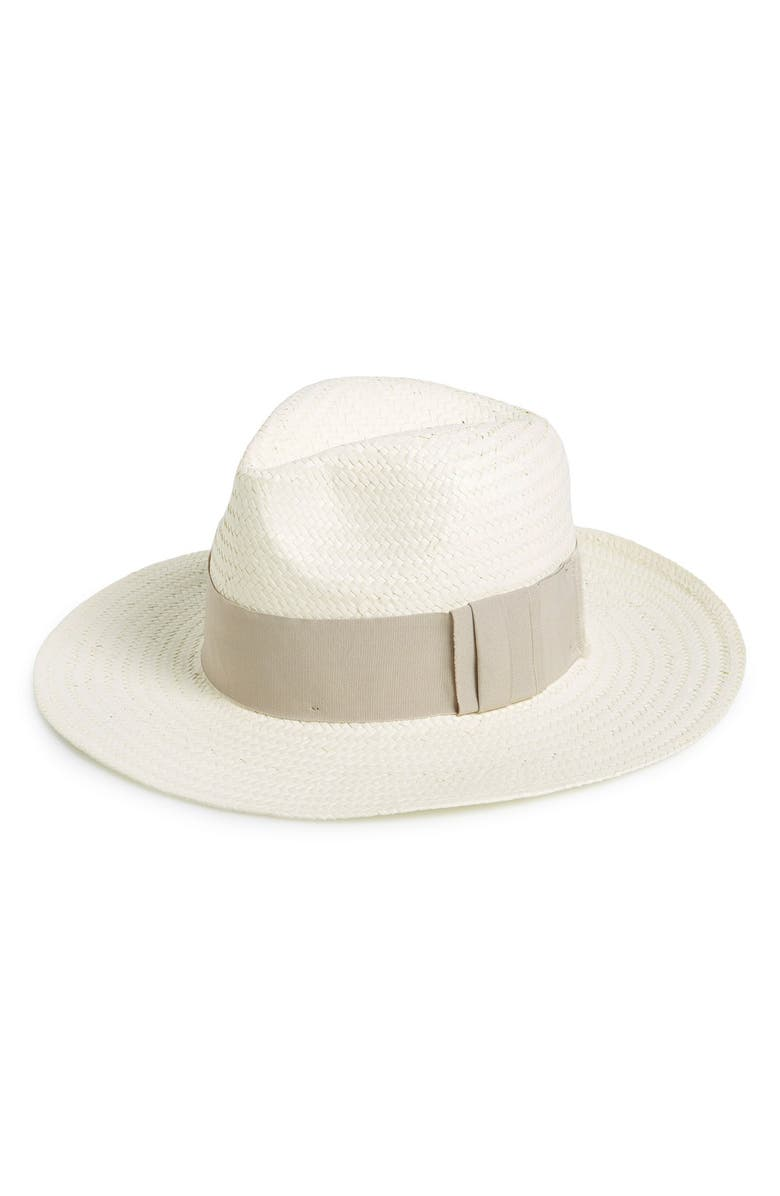 HALOGEN<SUP>®</SUP> Straw Panama Hat, Main, color, 100
