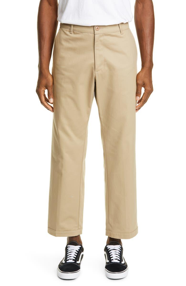 NOON GOONS Cropped Club Pants, Main, color, KHAKI