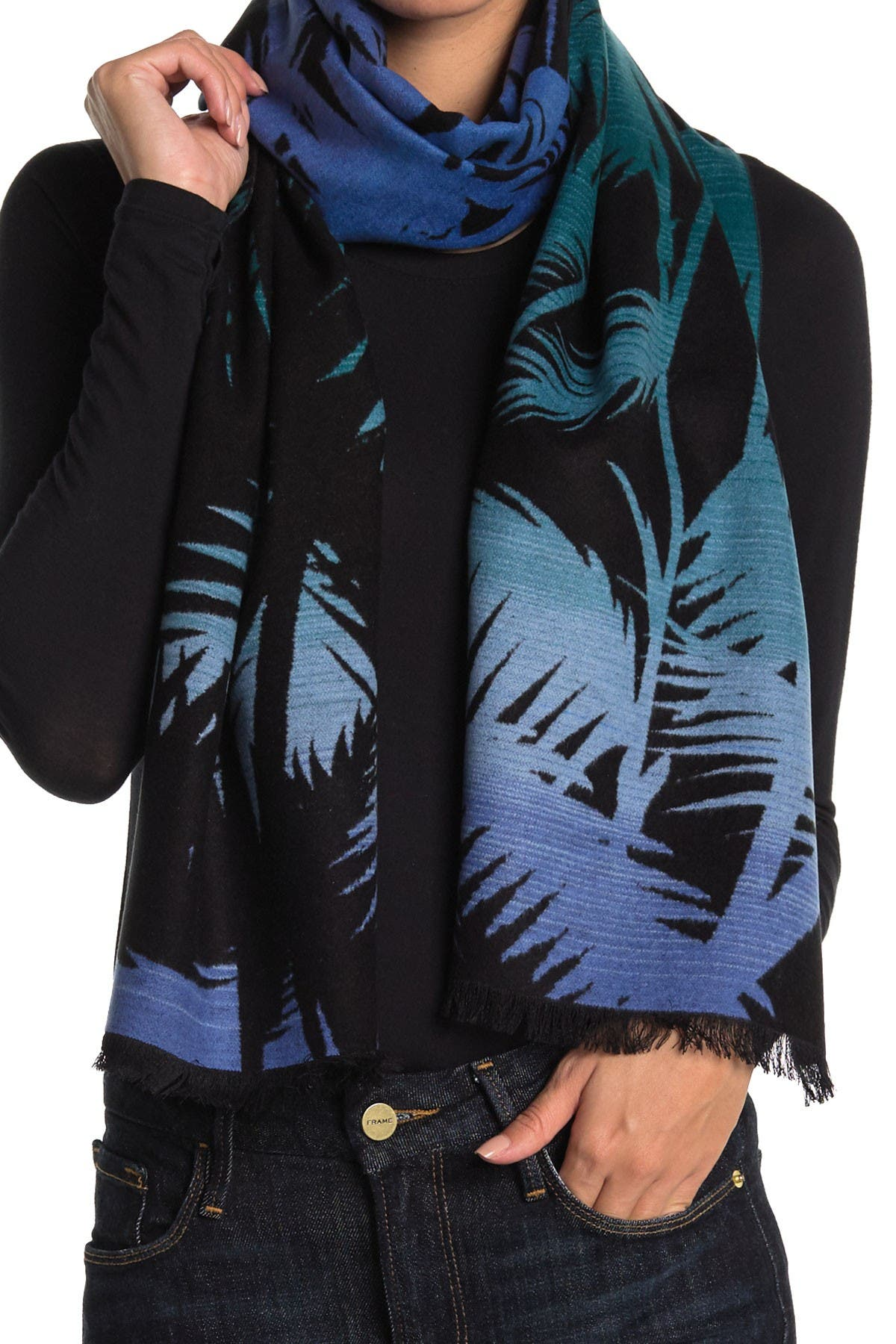Image of Chelsey Imports Tropical Silk Scarf