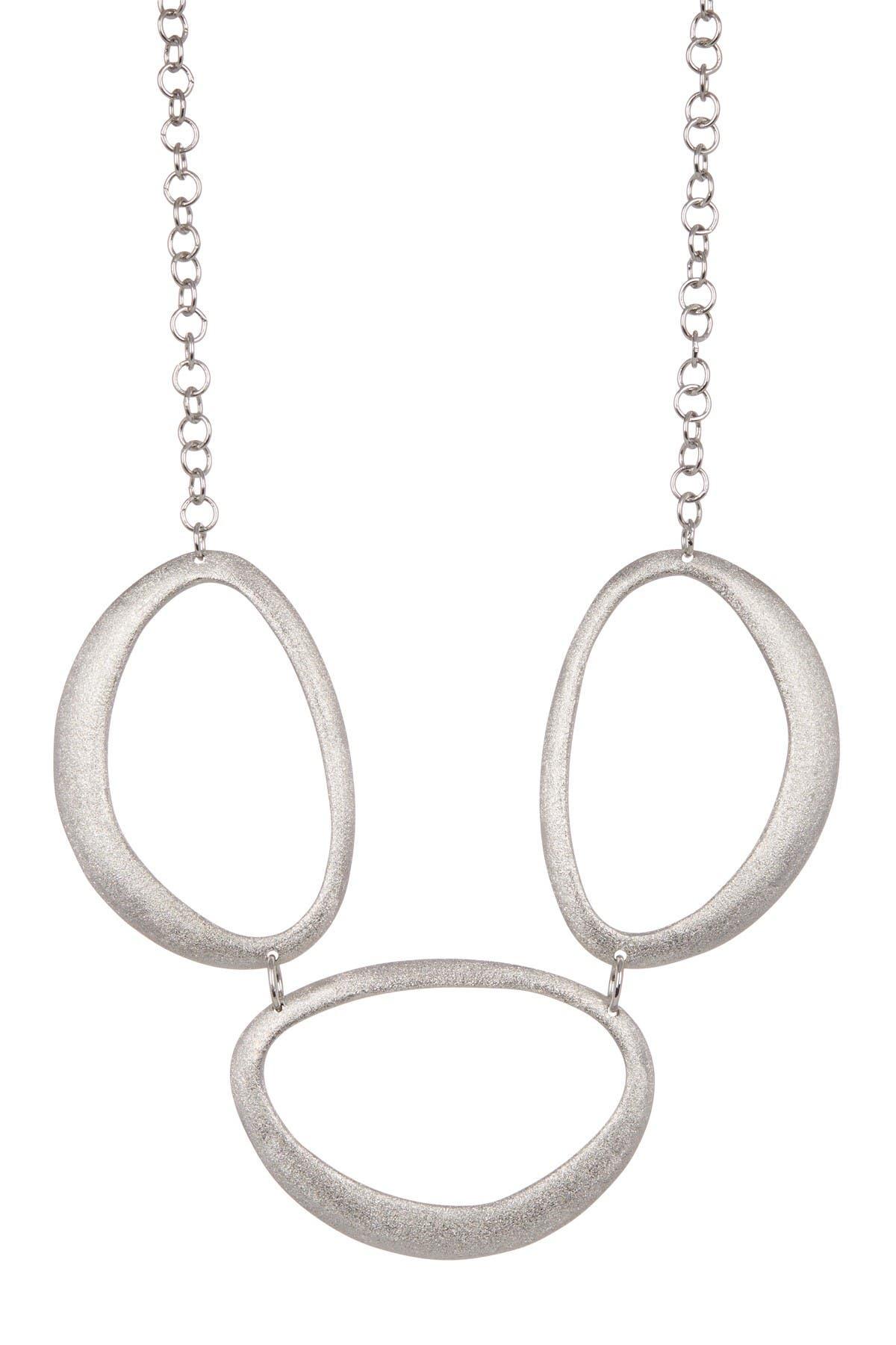 Image of Rivka Friedman Brushed Tri-Oval Station Necklace