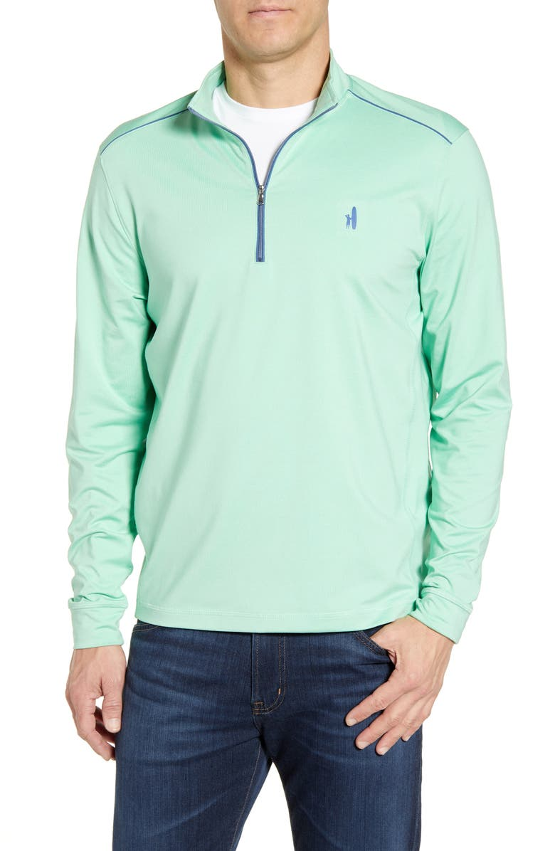 JOHNNIE-O Lammie Regular Fit Quarter Zip Prep-Formance Pullover, Main, color, PEAR