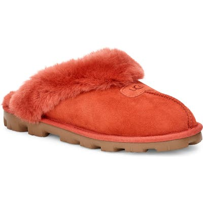 UGG Genuine Shearling Slipper, Orange