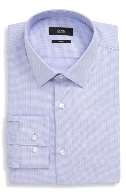 Boss Dresses ISKO SLIM FIT SOLID DRESS SHIRT