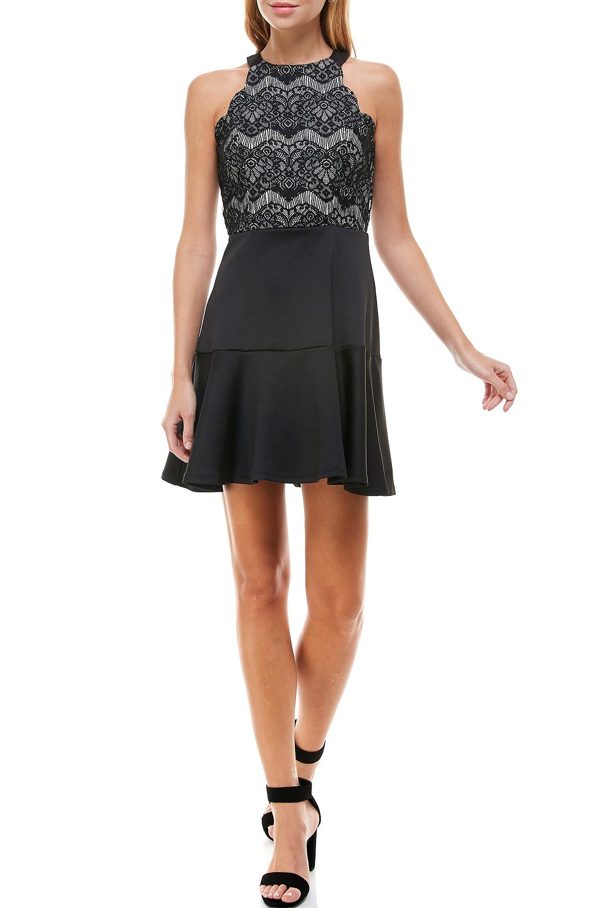 Image of ROW A Lace Bodice Glitter Dress