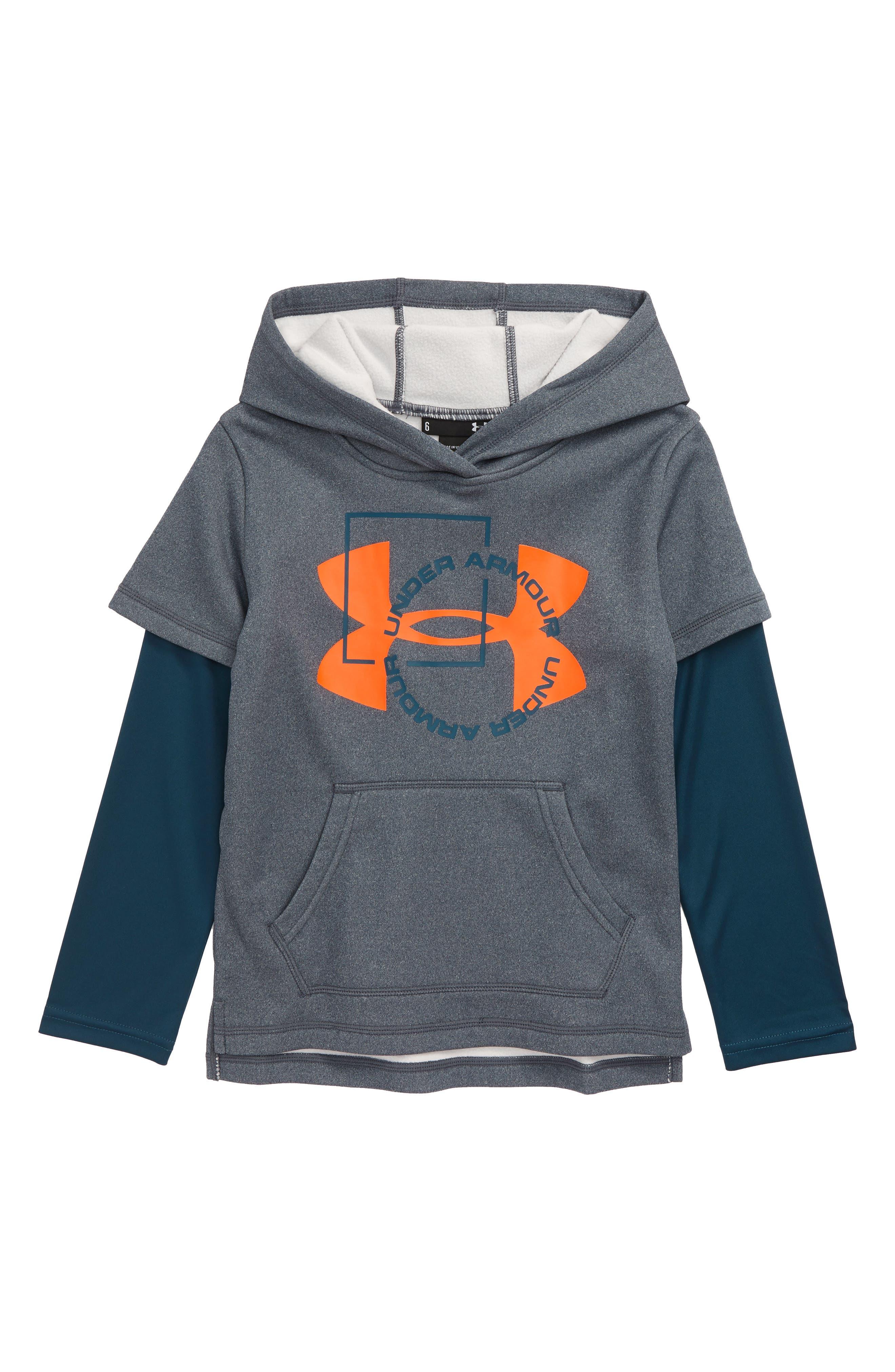 Boys Under Armour Logo Hoodie