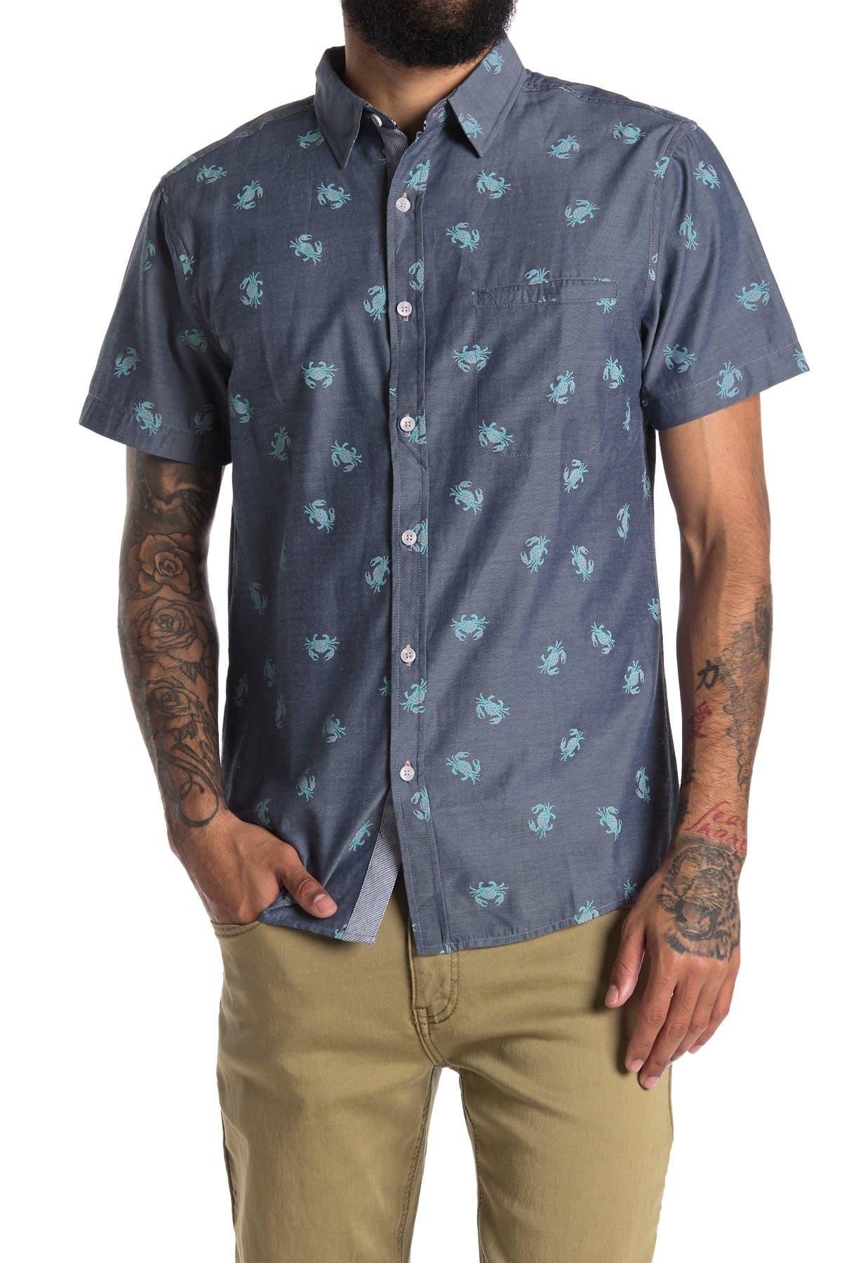 Image of Sovereign Code Atlantic Kiwi Print Regular Fit Shirt