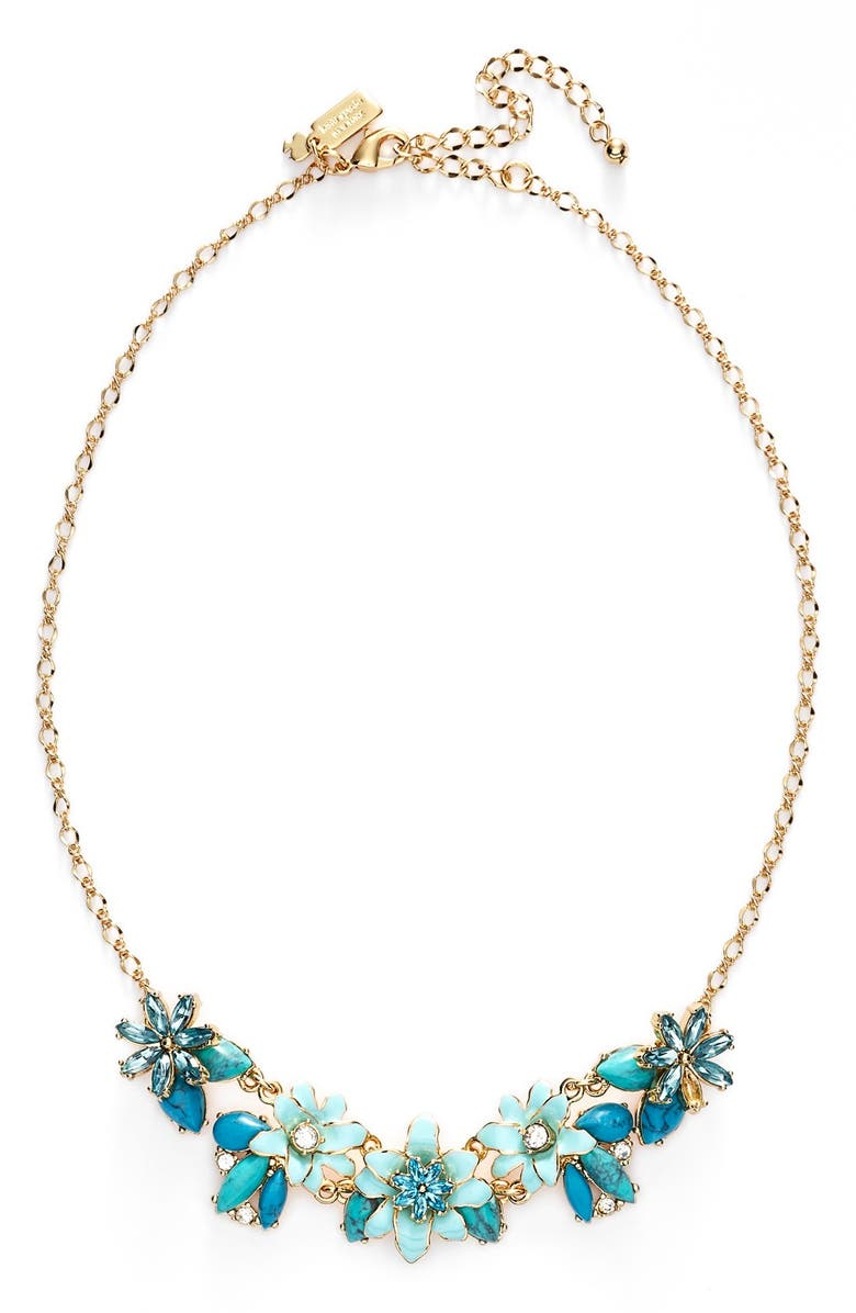 KATE SPADE NEW YORK 'glossy petals' bib necklace, Main, color, 440