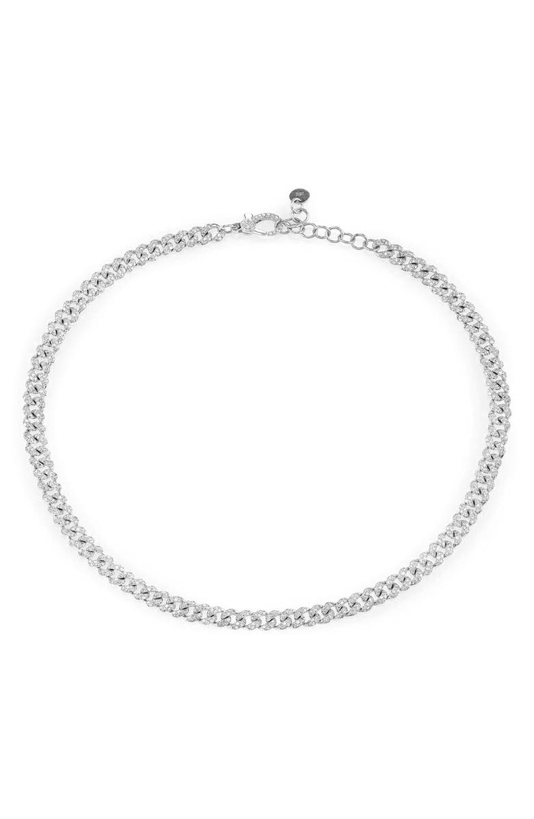 SHAY Pavé Diamond Link Choker, Main, color, DIAMOND