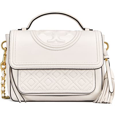 Tory Burch Fleming Quilted Leather Top Handle Satchel -