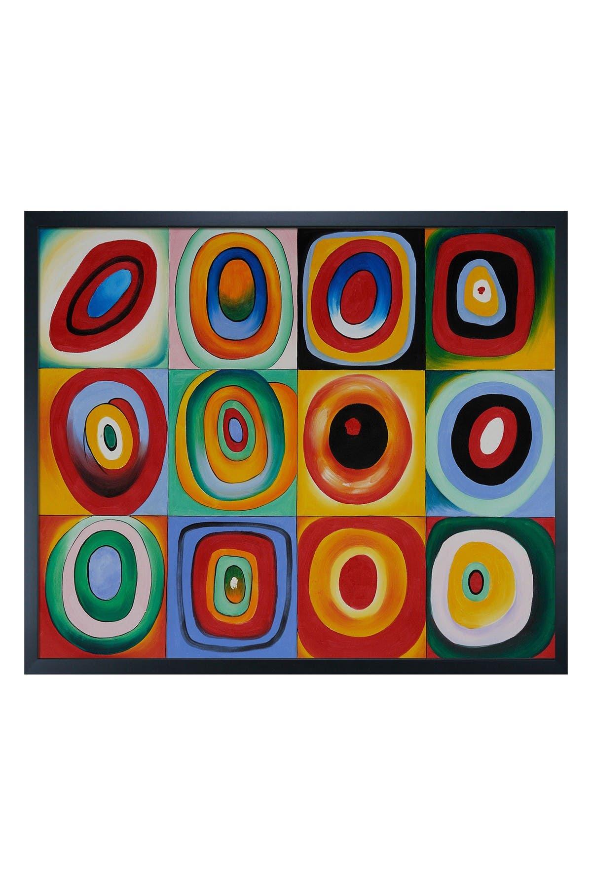 Overstock Art Farbstudie Quadrate with Studio Black Wood Frame , 21.5\\\
