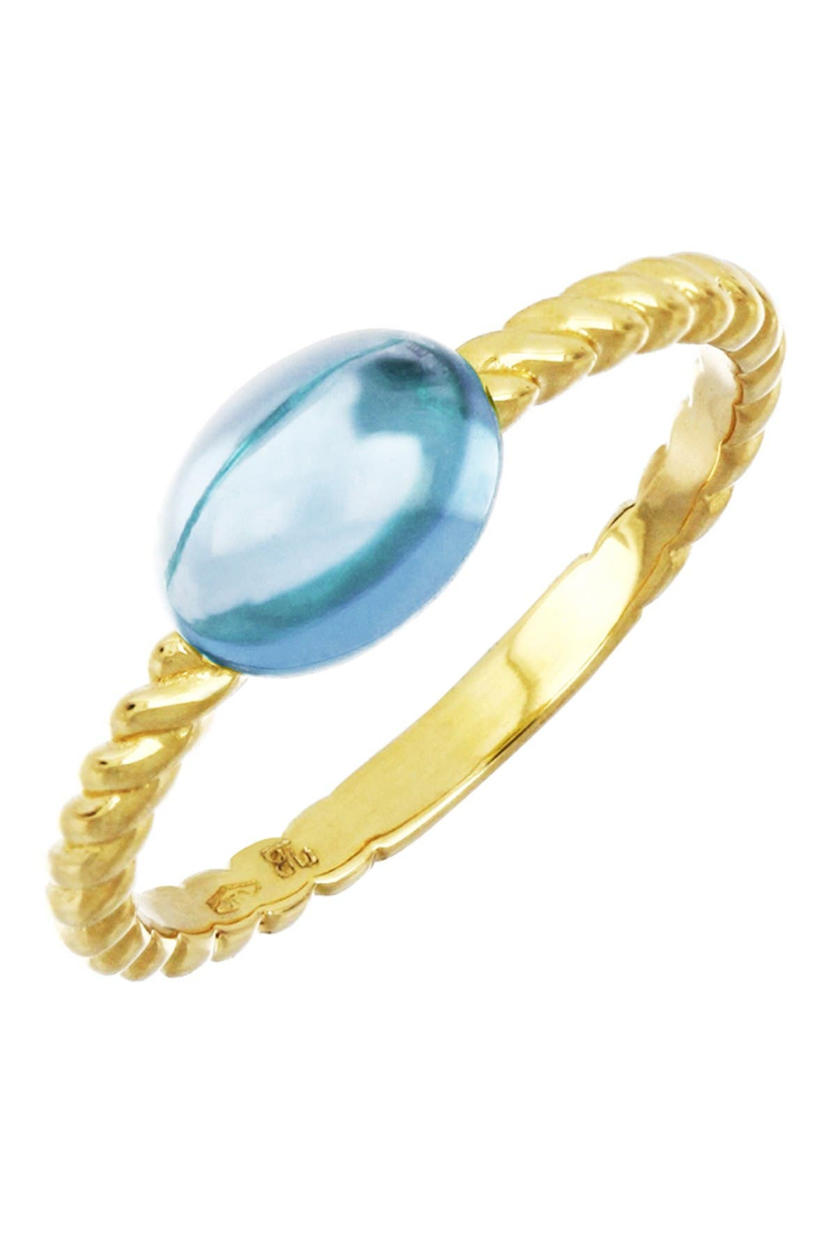Image of Bony Levy 18K Yellow Gold Blue Topaz Twisted Ring
