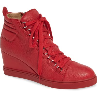 Linea Paolo Fenton Wedge Sneaker, Red