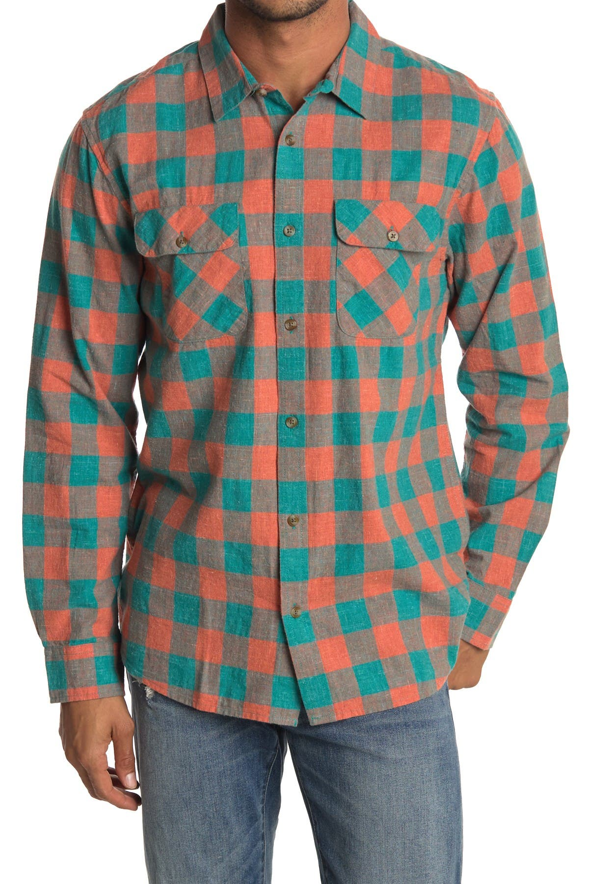 Image of Rip Curl Checked Out Plaid Print Flannel Shirt