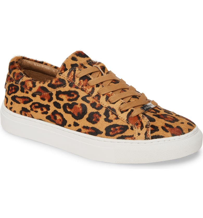JSLIDES Lacee Sneaker, Main, color, TAN LEOPARD CALF HAIR