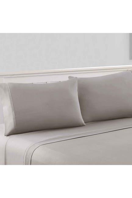 Image of Modern Threads 1800 Series 100 Solid Microfiber 4-Piece Sheet Set Gray Full