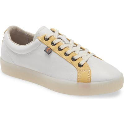 Softinos By Fly London Suri Low Top Sneaker, White