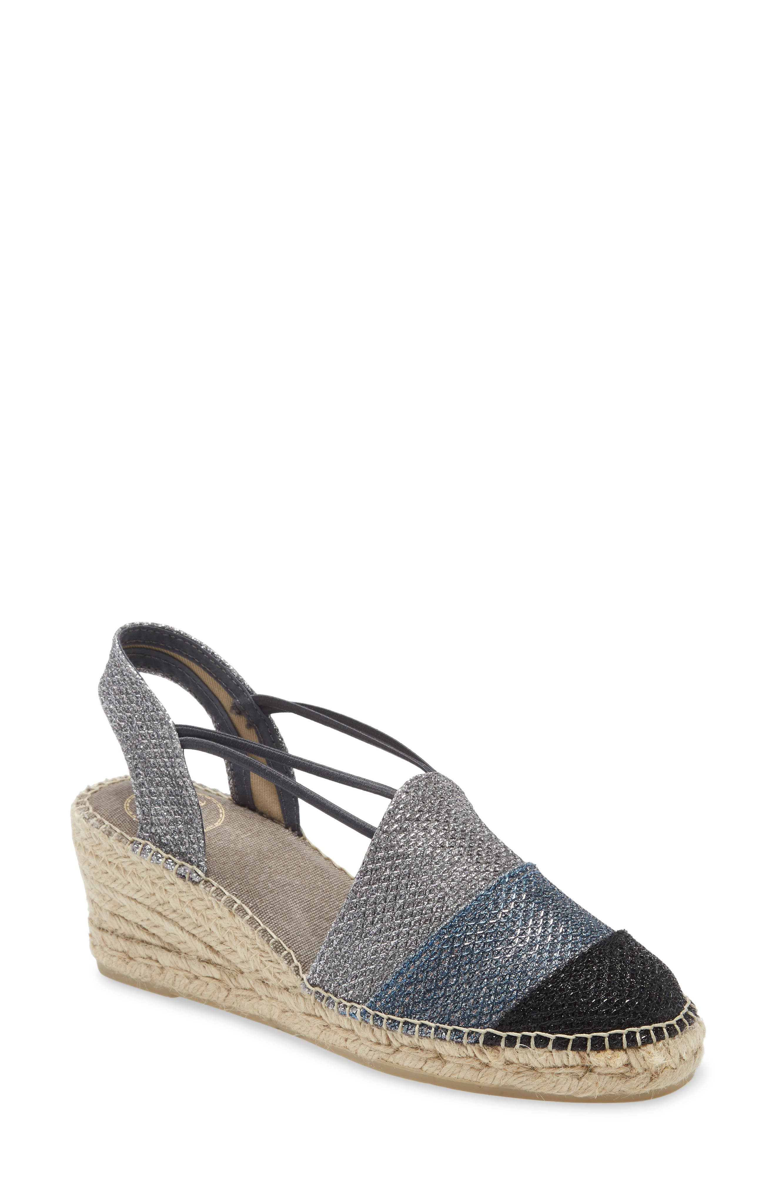 Metallic threads bring a touch of glamour to a breezy espadrille that\\\'s handcrafted in Spain using traditional techniques. Style Name: Toni Pons Tour Espadrille Wedge (Women). Style Number: 5993036. Available in stores.