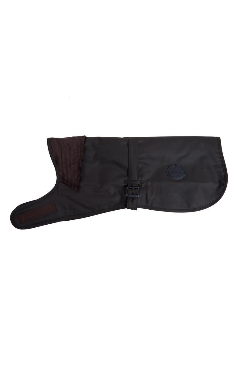 BARBOUR Matt Waxed Cotton Dog Coat, Main, color, OLIVE
