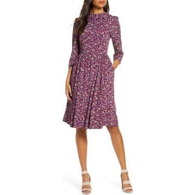 Gal Meets Glam Collection Beth V-Back Dress, Burgundy (Nordstrom Exclusive)