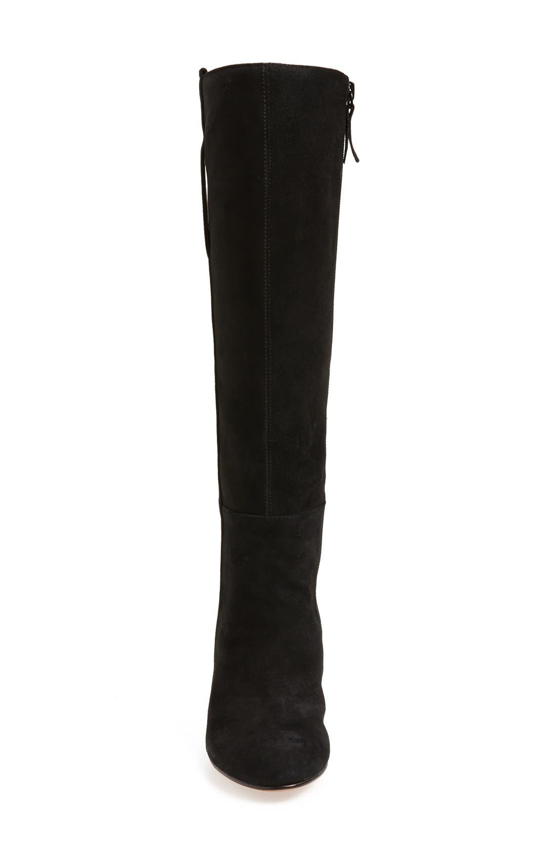 ,                             'Oran' Tall Wedge Boot,                             Alternate thumbnail 3, color,                             001