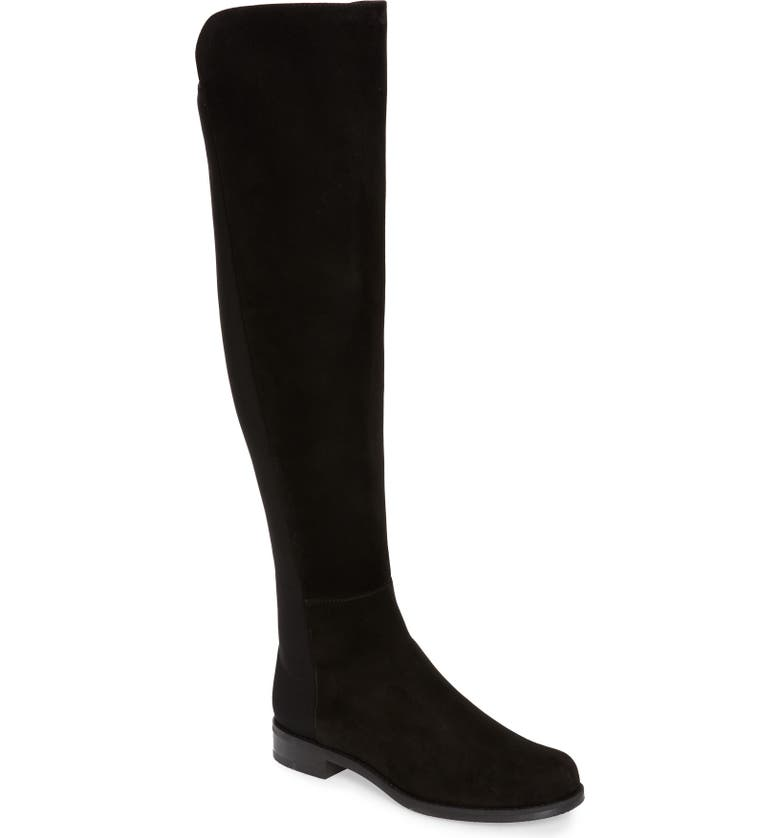 STUART WEITZMAN 5050 Over the Knee Leather Boot, Main, color, BLACK