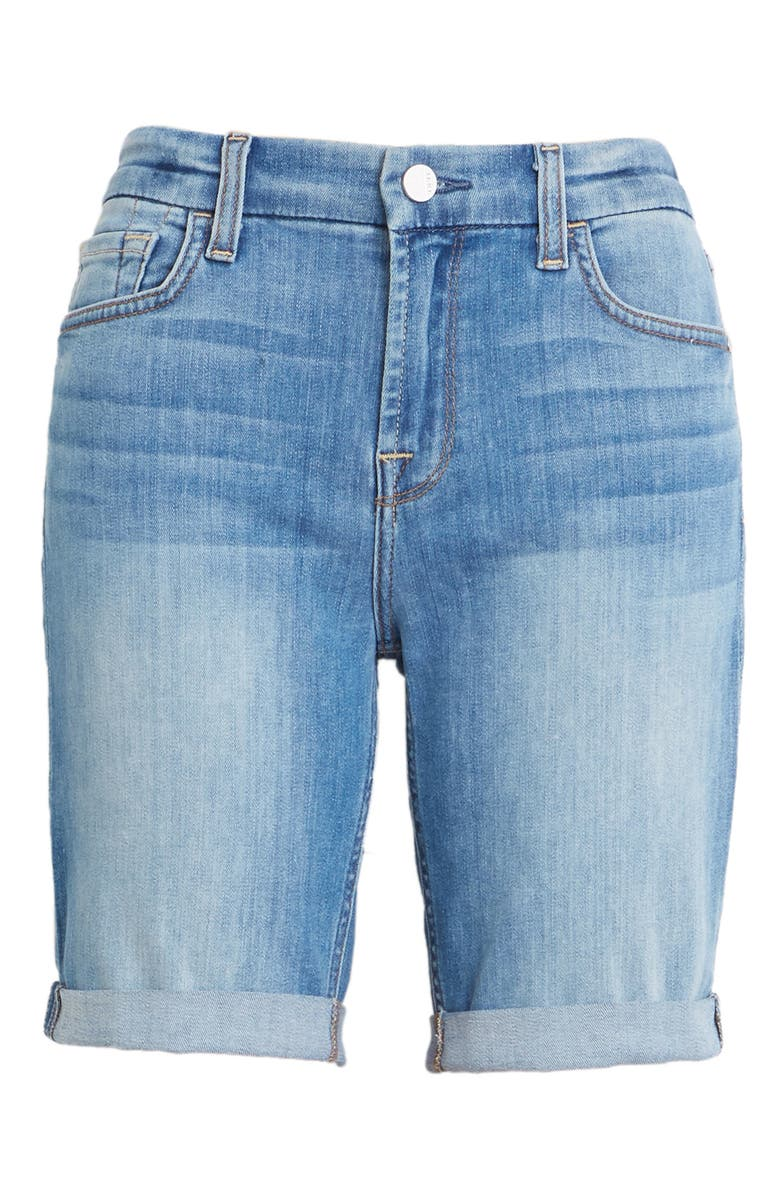 JEN7 BY 7 FOR ALL MANKIND High Waist Denim Bermuda Shorts, Main, color, LA QUINTA