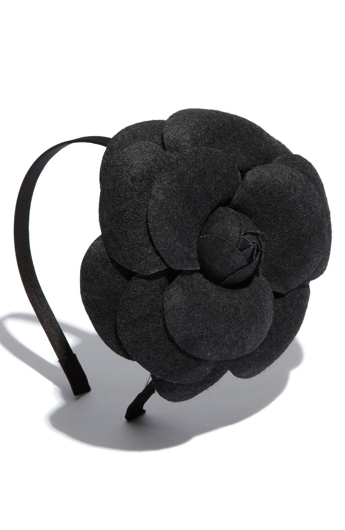 ,                             Accessories 'Extra Large Camellia' Headband,                             Main thumbnail 1, color,                             001