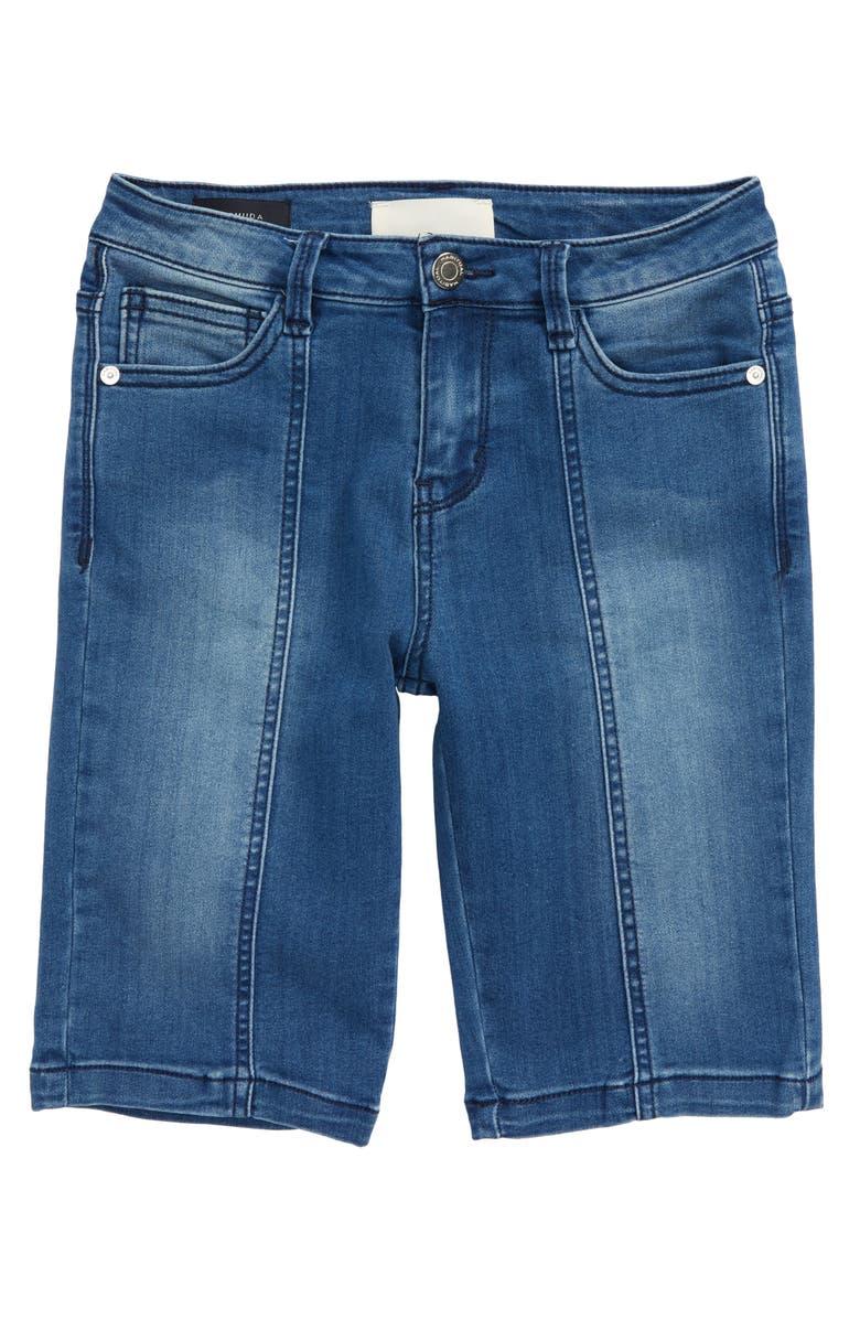 HABITUAL Stretch Denim Bermuda Shorts, Main, color, MED STONE