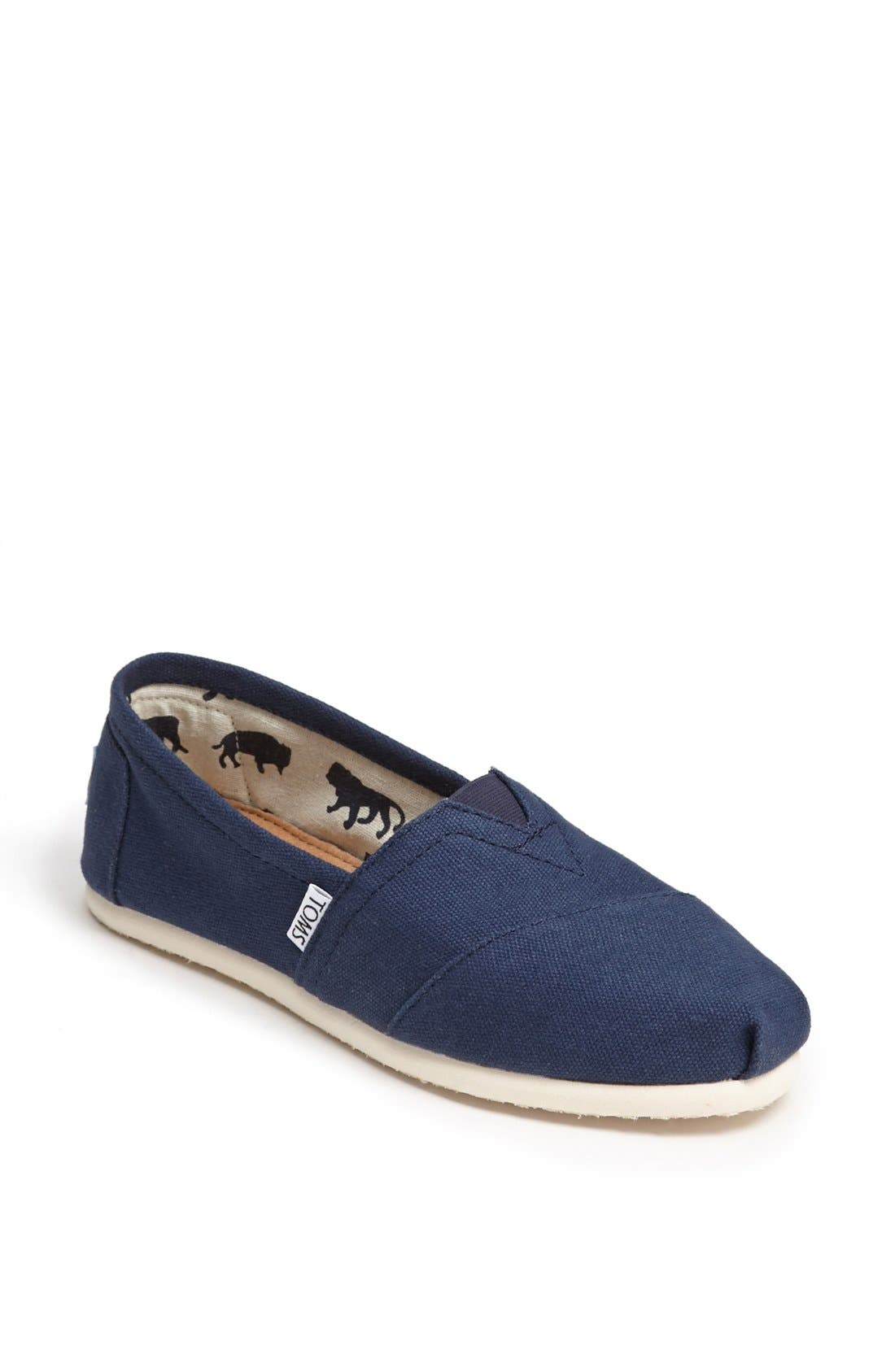 Toms Classic Canvas Slip-On- Blue