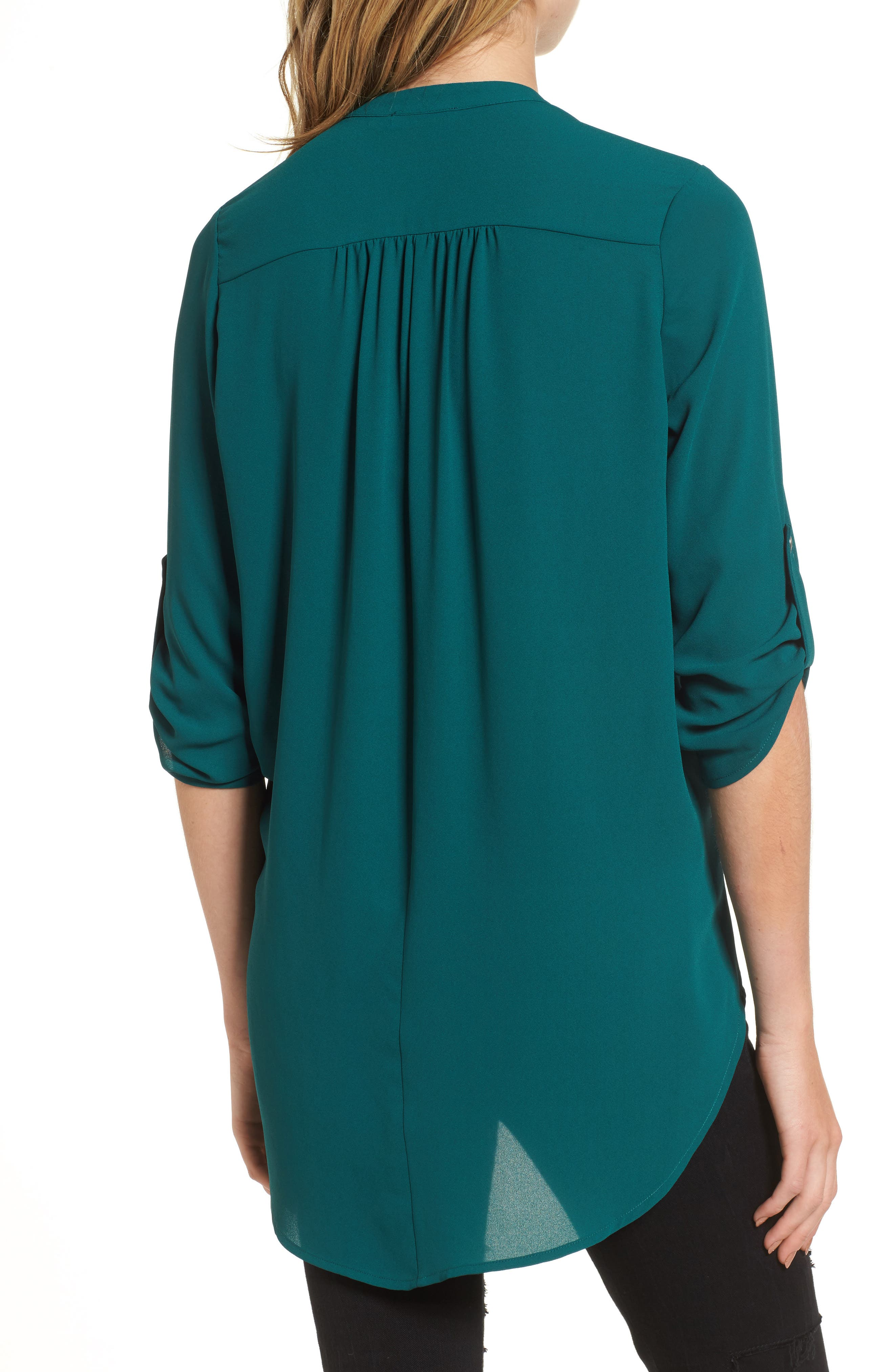 ,                             Perfect Roll Tab Sleeve Tunic,                             Alternate thumbnail 64, color,                             330