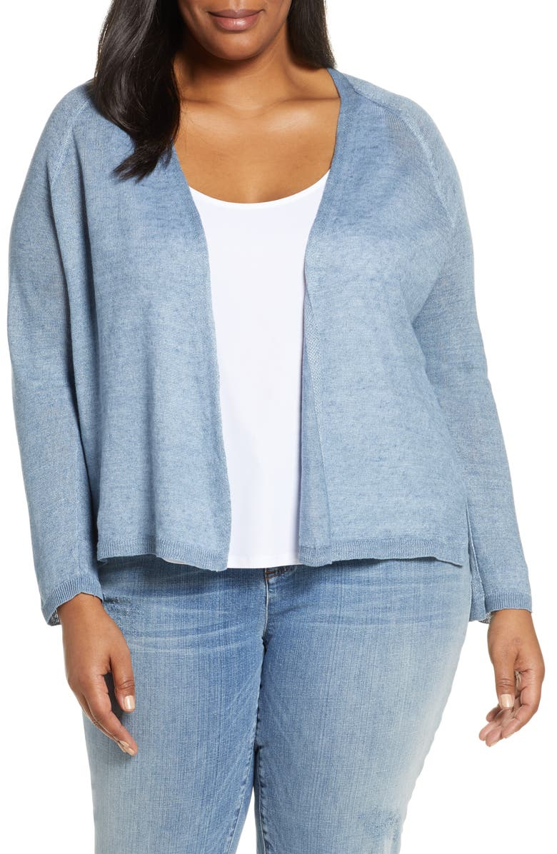 EILEEN FISHER Organic Linen Cardigan, Main, color, 416
