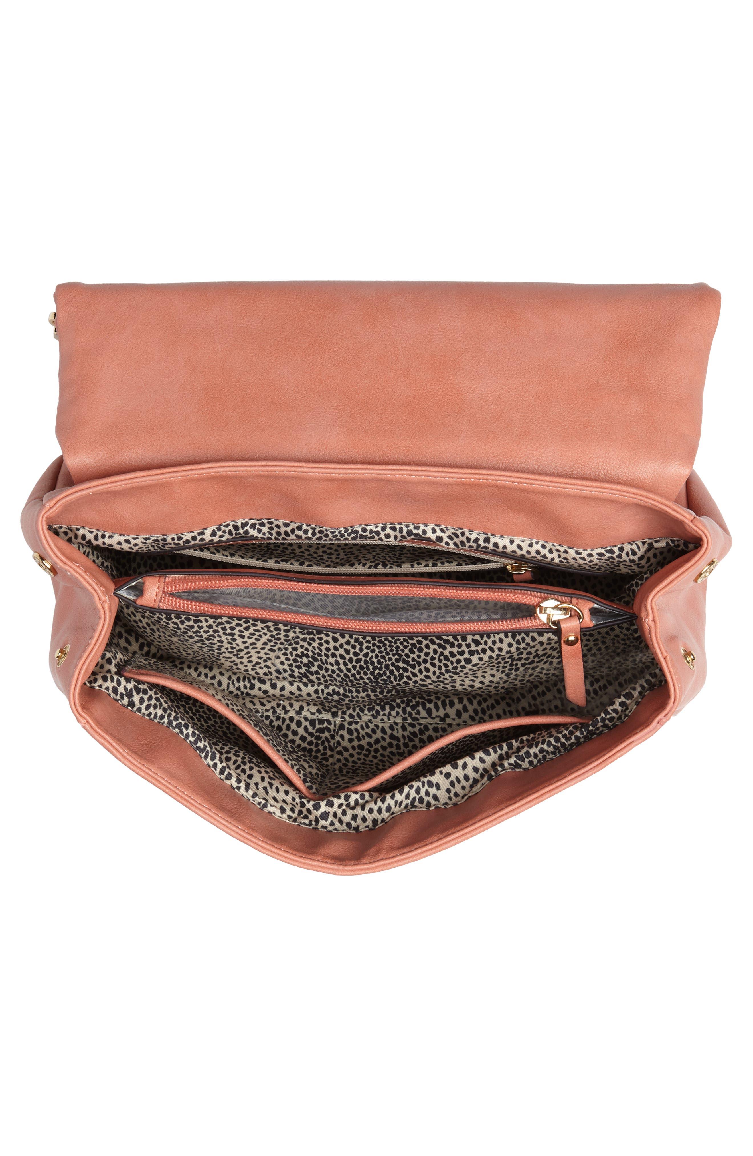 ,                             Top Handle Faux Leather Crossbody Bag,                             Alternate thumbnail 22, color,                             950