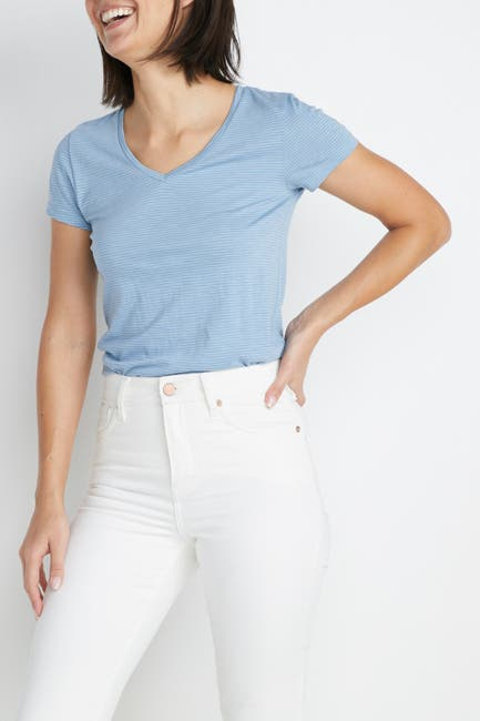 Image of Marine Layer Classic Knit V-Neck T-Shirt