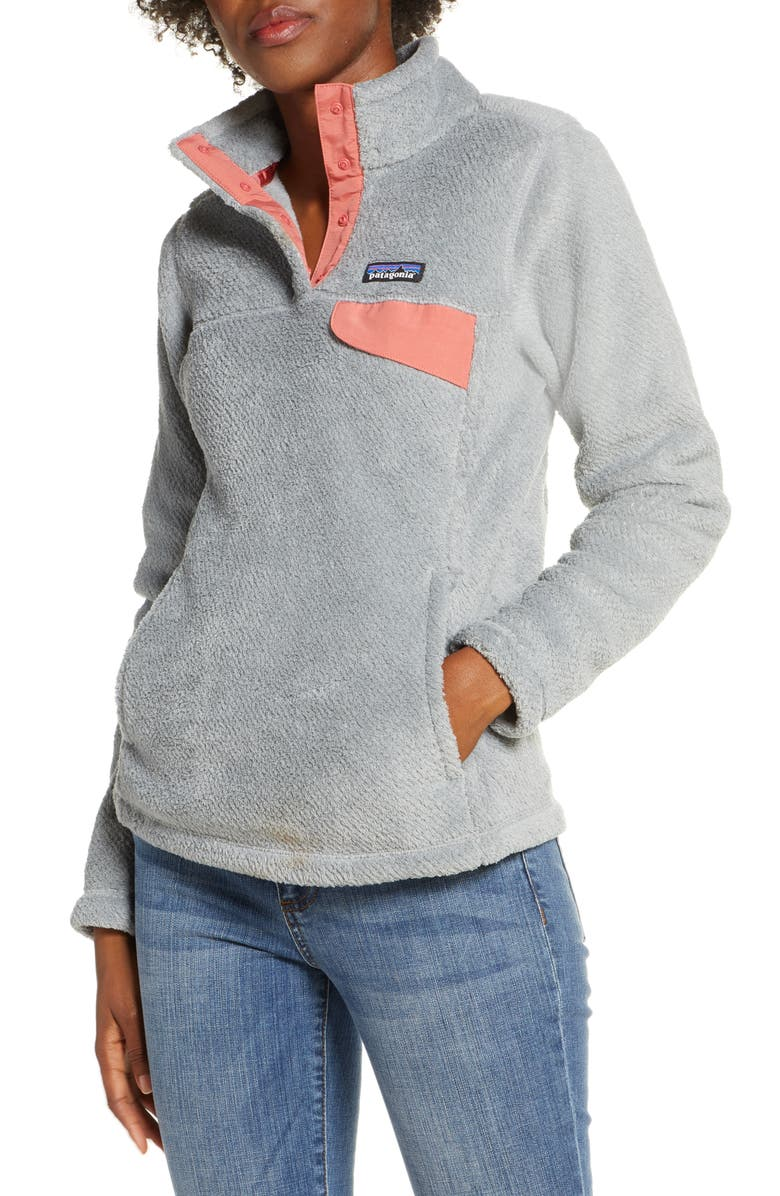 PATAGONIA Re-Tool Snap-T<sup>®</sup> Fleece Pullover, Main, color, TAIL GRY-NICK X-DYE AUREA PNK