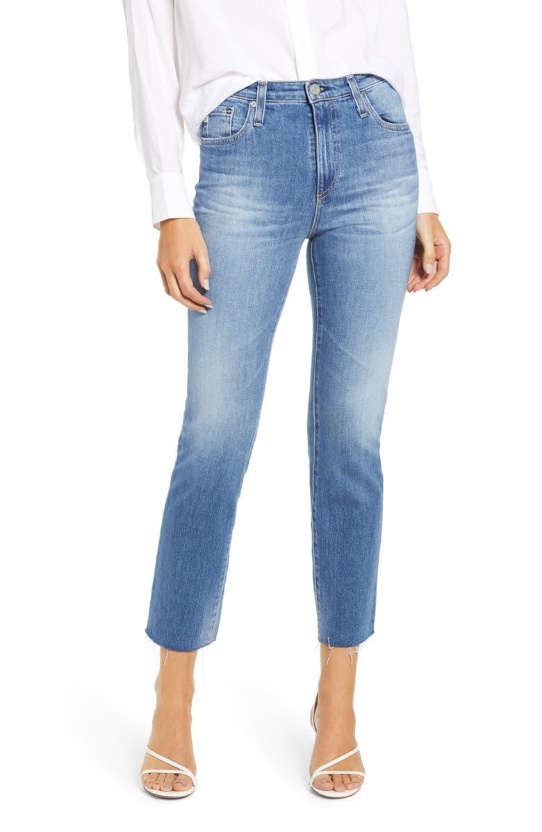 AG The Isabelle High Waist Crop Straight Leg Jeans, Main, color, 461