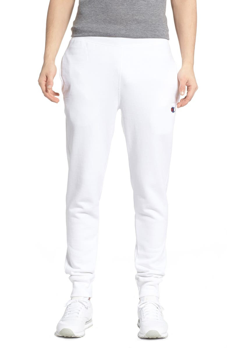 CHAMPION Reverse Weave<sup>®</sup> Jogger Pants, Main, color, WHITE