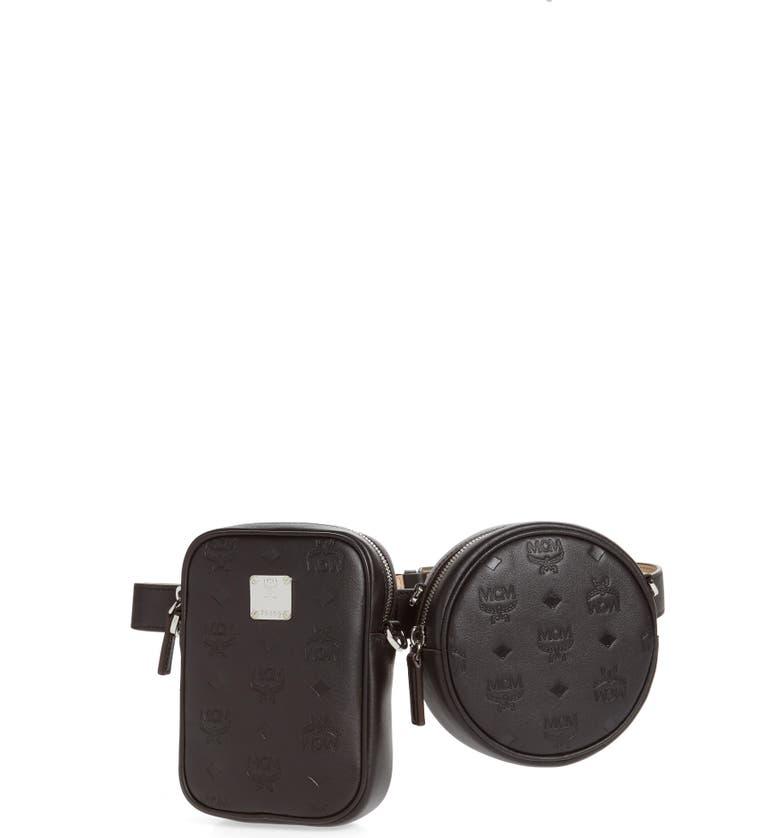 MCM Essential Monogram Leather Double Belt Bag