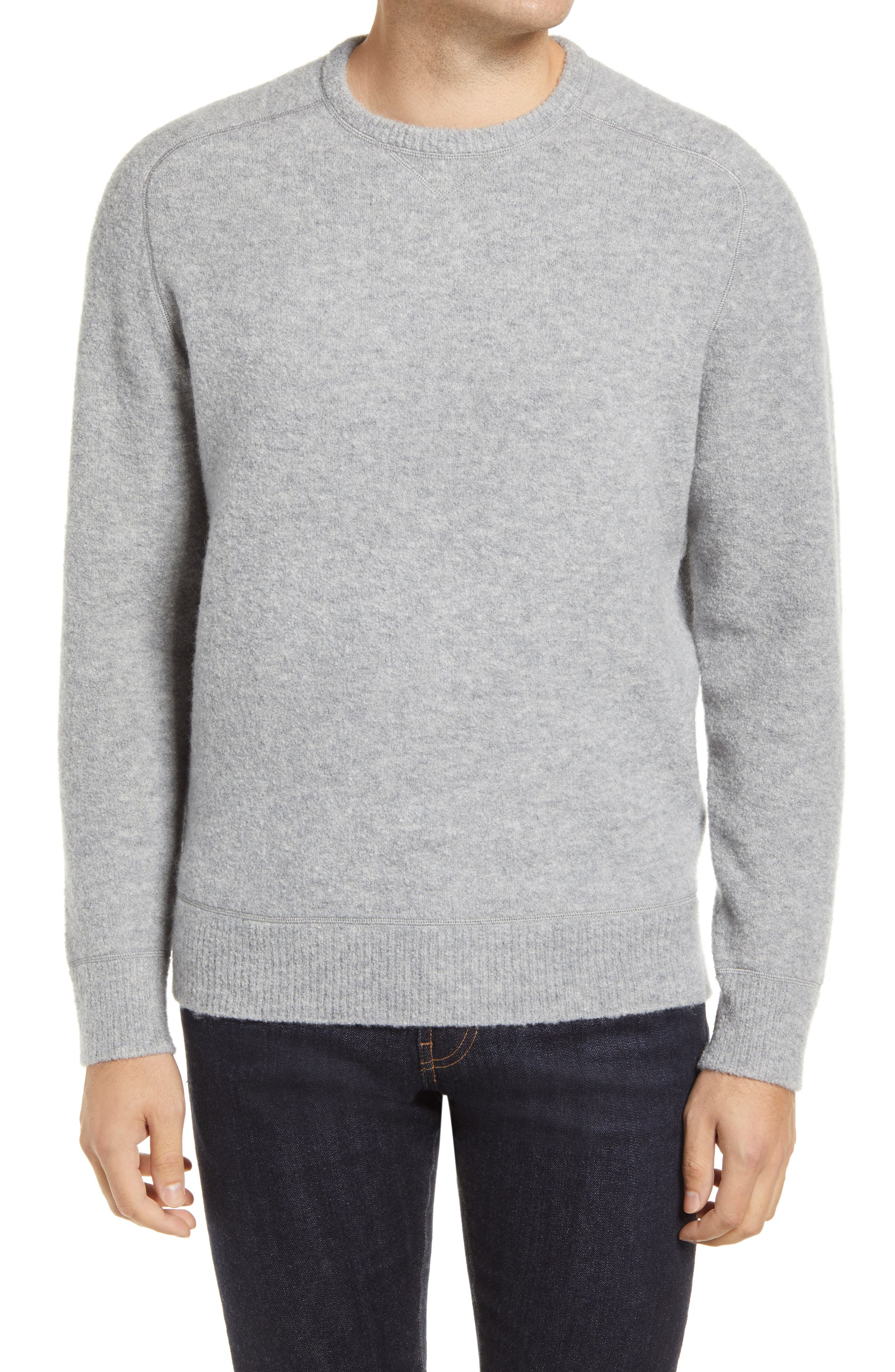 A richly textured merino wool blend with a dose of yak down elevates a handsome sweater with smart raglan sleeves. Style Name: Peter Millar Merino Wool Blend Raglan Sweater. Style Number: 6106594. Available in stores.